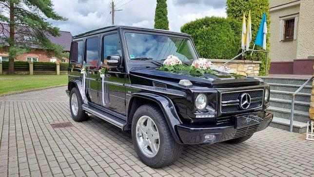Samochód do Ślubu, Mercedes G Klasa 55 AMG, Auto na wesele, Imprezy