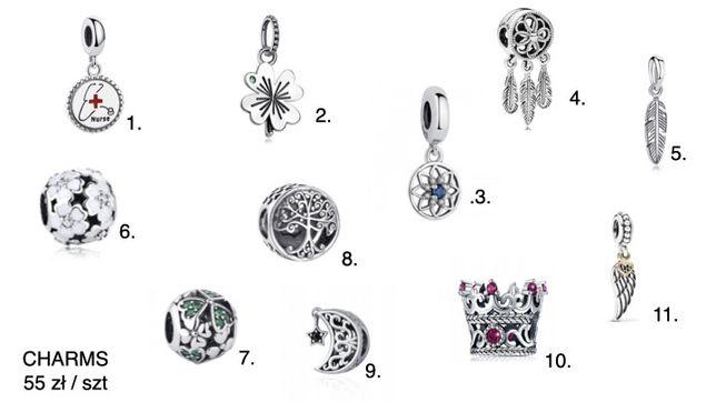 Charms zawieszka do Pandora srebro 925 + kuferek na charmsy