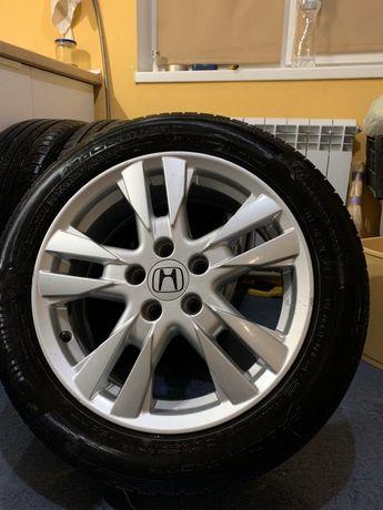 Литые диски Honda с резиной Continental 225/50/R17