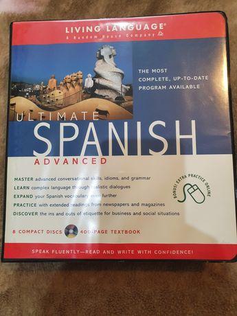 Książka do nauki hiszpańskiego z płytkami cd