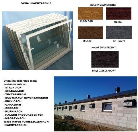 OKNA inwentarskie różne wymiary/kolory okno gospodarcze uchylne