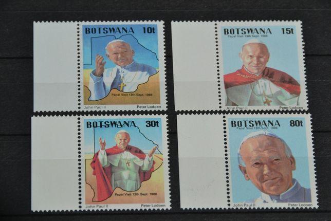 Znaczki. Botswana Papież Jan Paweł II **