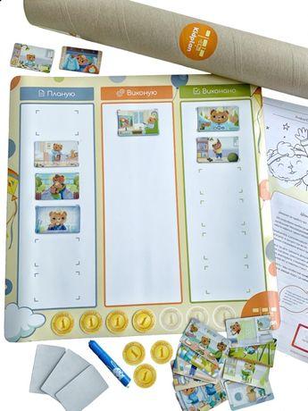 Магнитная развивающая игра Kidplan Режим Дня для детей 3-6 лет