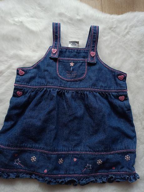 Sukienka niemowlęca jeansowa dla dziewczynki święta