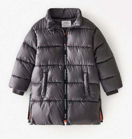 Новый пуховик, пальто , удлиненная куртка Zara, на 6 лет