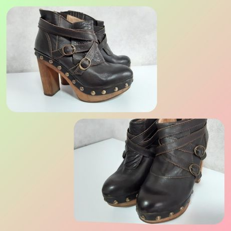 Ботильоны кожаные (ботинки)