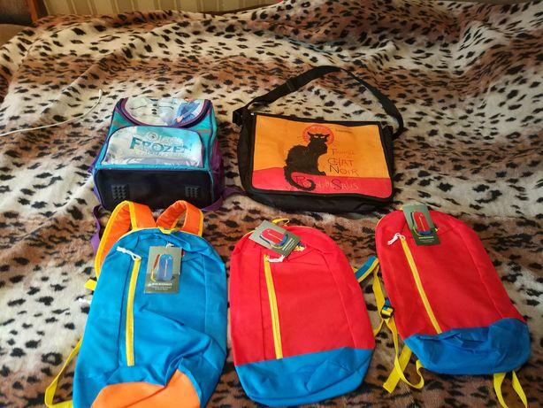 Отдам детские новые и б.у рюкзаки, школьная сумка за 100 грн