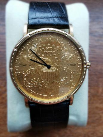 Oryginalny Corum, Złoty zegarek, Twenty Dollars, Gold, Wyjątkowy