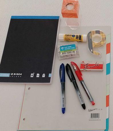 Kit material escolar/escritório, 10 un por 5€
