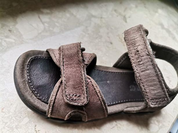 Sandały dla chłopca Timberland -skórzane, brązowe  r.28
