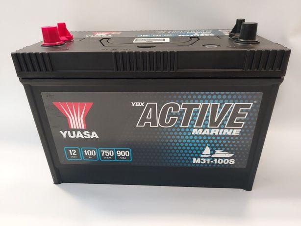 Akumulator do łodzi 12V YUASA 100AH Marine M31-100S 100Ah 750A