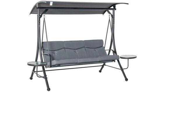 Huśtawka Ogrodowa 3- Osobowa z baldachimem i stolikiem regulowanym