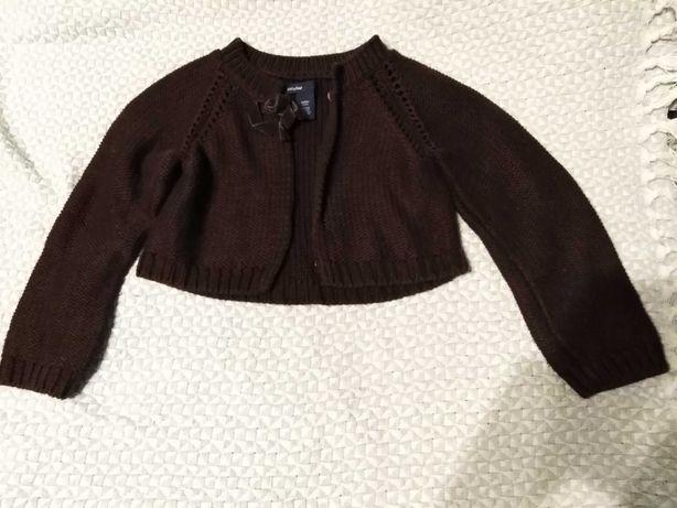 Bolerko sweter 116 firmy BabyGap na 5 lat brązowe
