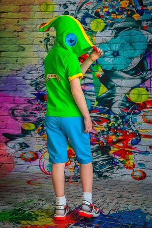 Летний костюм Леон Leon Brawl stars Бравл бравл акула футболка шорты