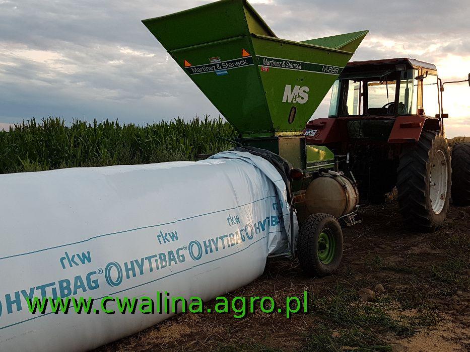 Pakowanie w rękaw foliowy, gniecenie ziarna zakiszanie kukurydza zboża Nowogród - image 1