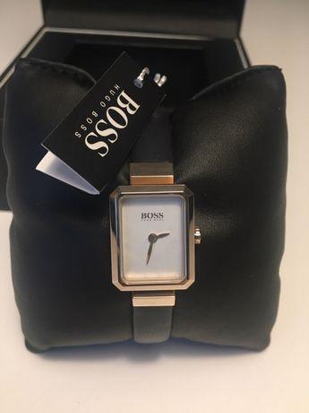 NOWY Zegarek Hugo Boss, damski, kolor złoty, skórzany pasek