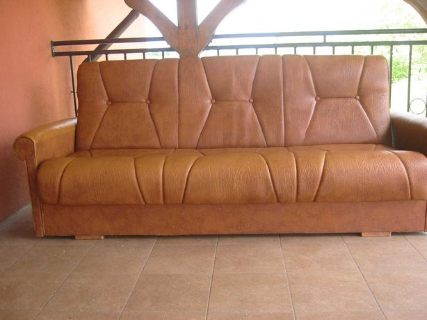 kanapa rozkładana skórzana