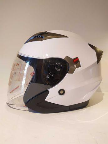 Capacete aberto Xpro dupla viseira scooter mota novo.