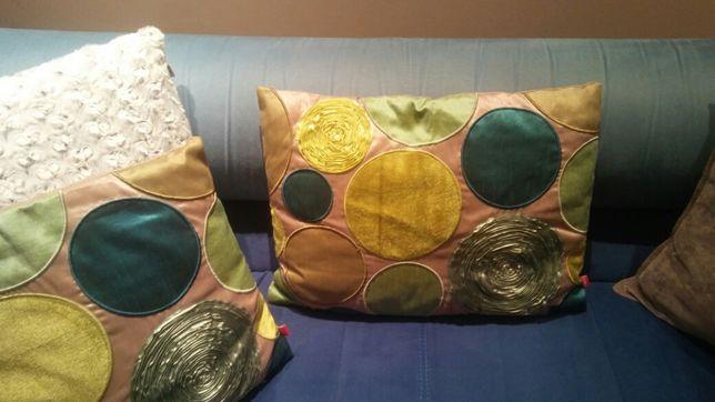 Poduszka poszewka 47x34 cm satyna kolorowa koła by home&you