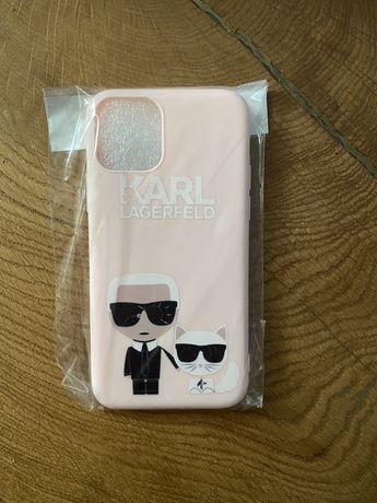 Etui iphone 11 pro karl lagerfeld kot rozowa