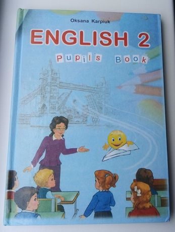 Книжки для 2 класса(укр мова, основи здоров'я, англ мова)