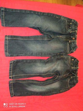 2 szt. Dżinsy chłopięce, spodnie jeansy r. 92, Zara - jak nowe