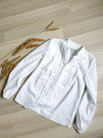 Белая фирменная рубашка из хлопка Margit brandt