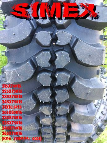 Шины 4х4 грязевые Simex 195/205/x80R16 на УАЗ,НИВА,SUZUKI,Toyota,Nisan