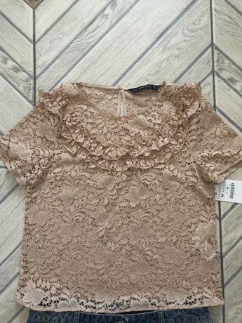 Блуза zara , джинсовая юбка