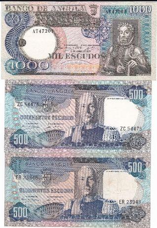 Lote de notas de Angola