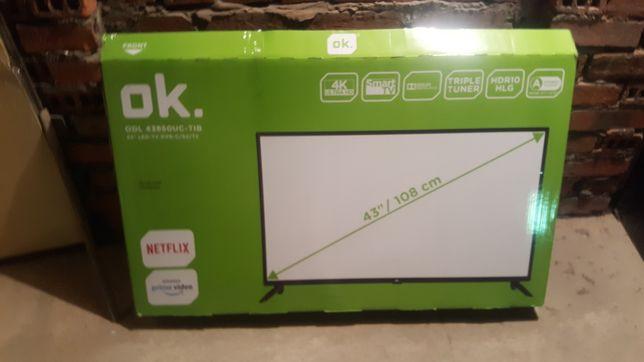 Telewizor  ok 43cal 4k full hd