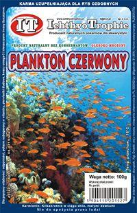 Plankton czerwony firmy Ichthyo Trophic - mrożony pokarm dla ryb