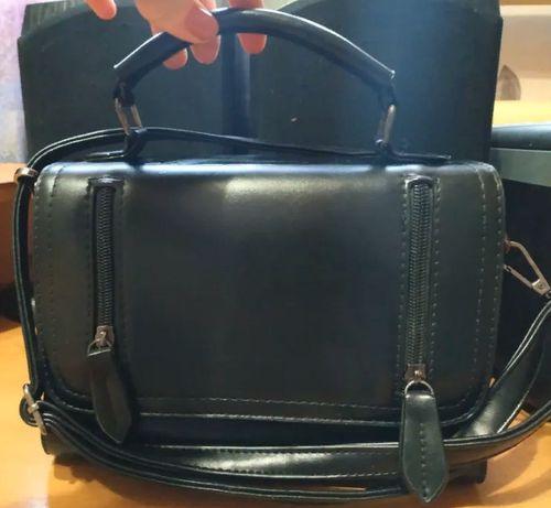 сумочка чёрная маленькая женская клатч чёрный