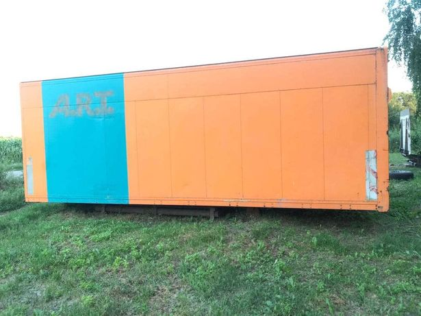 алюминиевая будка фургон,мебельная будка на MAN L2000 боковая выгрузка