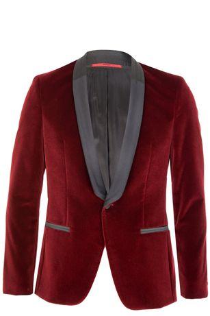 Красный бархатный пиджак Hugo Boss Arian