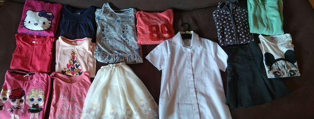 Ubrania dla dziewczynki 122/128