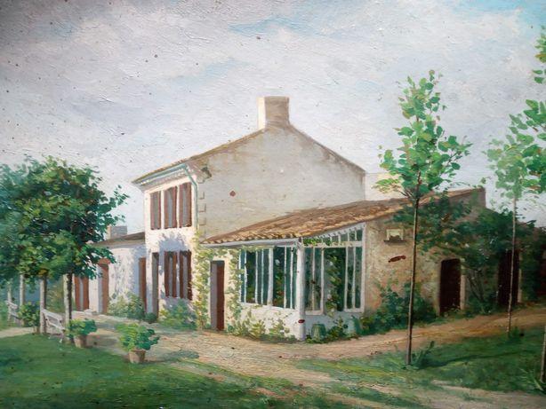 Stary obraz olejny Lanne