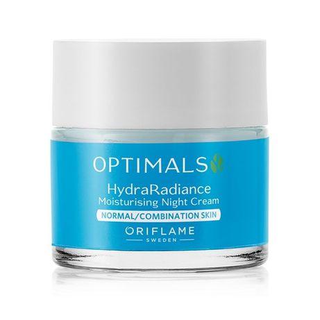 Krem na noc Optimals Hydra Radiance. Cera normalna i mieszana Oriflame
