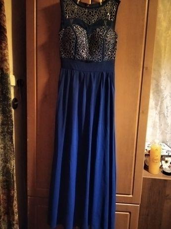 Вечірнє плаття, темно-синього кольору. Розмір S