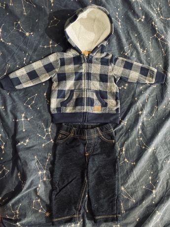 Комплект Carters флисовая кофта + штаны 3-6 месяцев