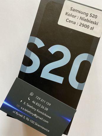 Telefon Samaung S20 Niebieski