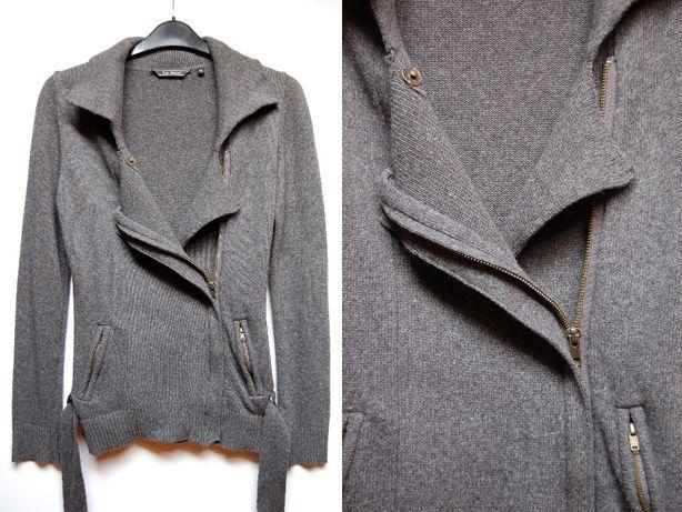 Top Secret sweter damski 38(M), szary, rozpinany, bawełna