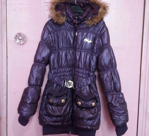 Курточка модная демисезонная или зима до -10 точно 140 гр