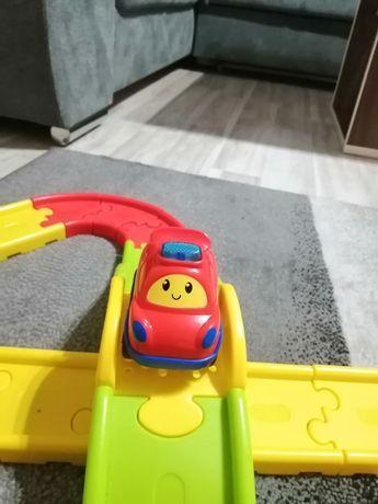 tor samochodowy tory samochodowe autko Smily Play most