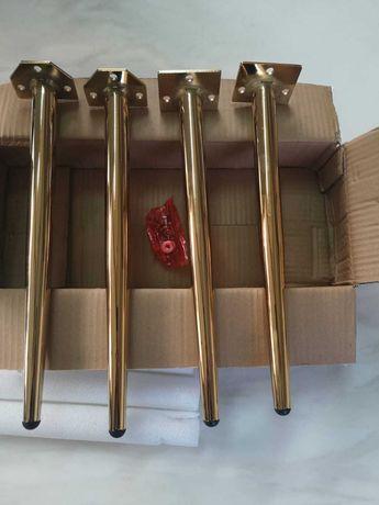 Metalowe nogi do krzeseł - złoty chrom.