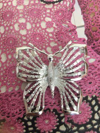 Бабочка, винтажная брошь, США