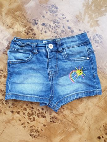Szorty spodenki jeansowe rozm 2-3 lata Denim