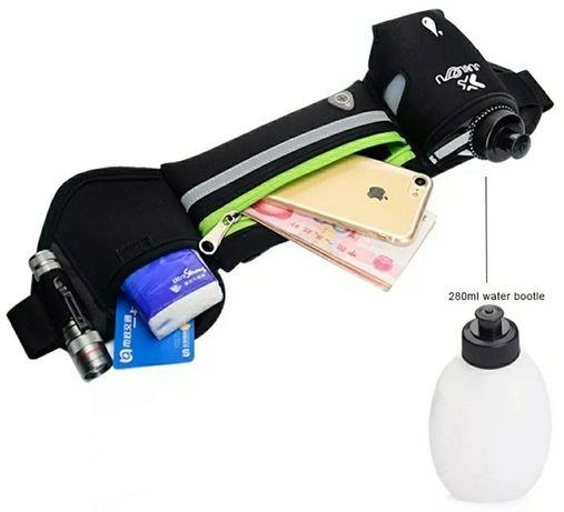 Bolsa de cintura desportiva com garrafa incluída (Novo)