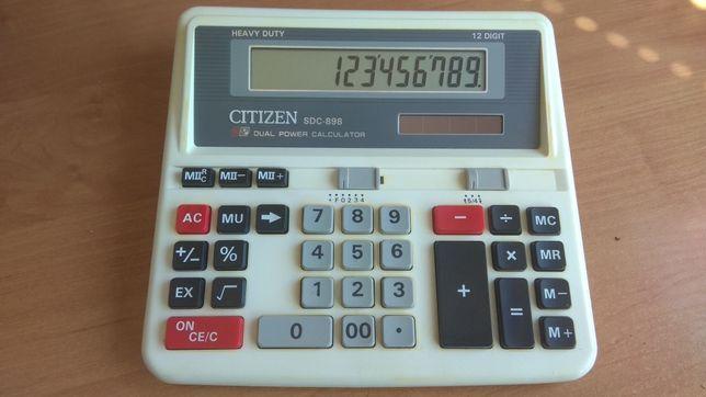 Калькулятор профессиональный бухгалтерский 12-разрядный Citizen SDC898