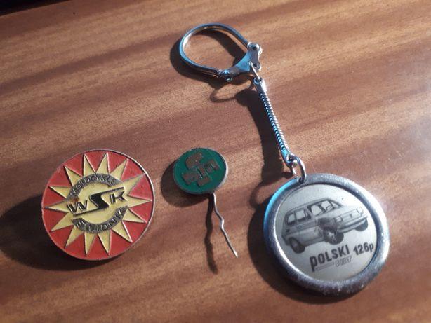 WSK FSM Fiat 126p brelok przypinka odznaka Motocykle Świdnik maluch